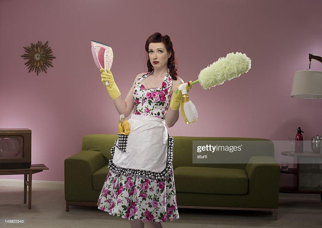 retro housewife : Stock Photo