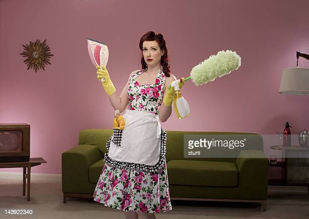 retro housewife - homemaker stock pictures, royalty-free photos & images