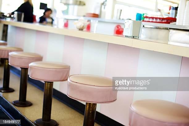 retro-ice cream soda shop Barhockern