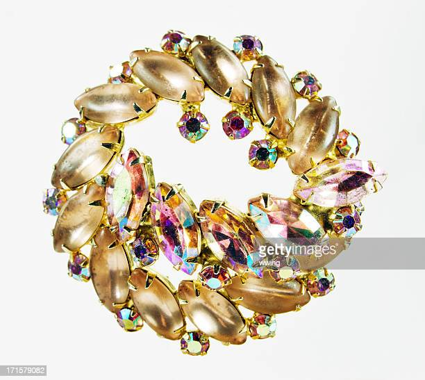 retro jewelry - brooch stock pictures, royalty-free photos & images