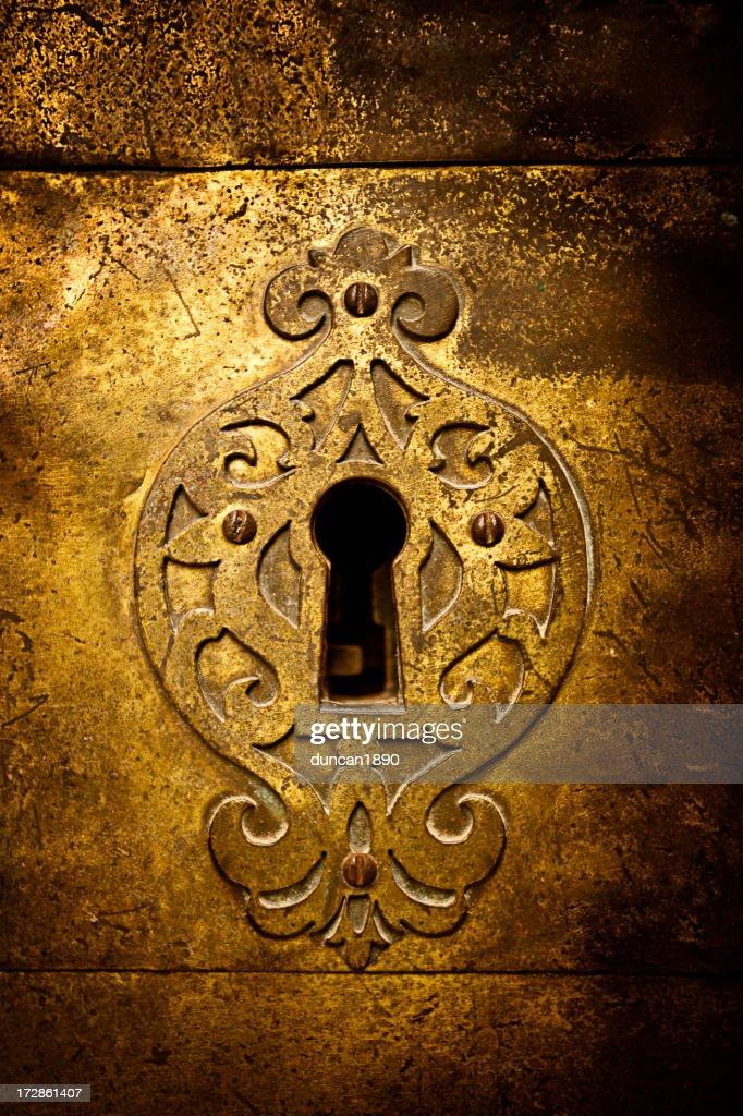 Retro keyhole : Stock Photo