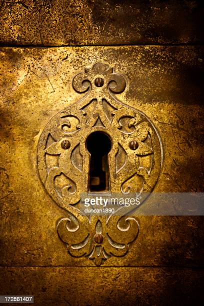 retro keyhole - brass stock pictures, royalty-free photos & images