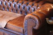 Retro leather sofa