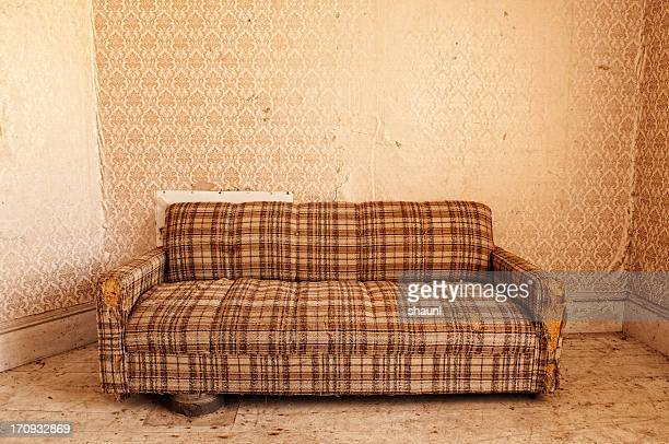 retro living room - run down stock pictures, royalty-free photos & images