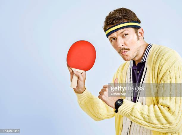 retro male - funny ping pong stock pictures, royalty-free photos & images