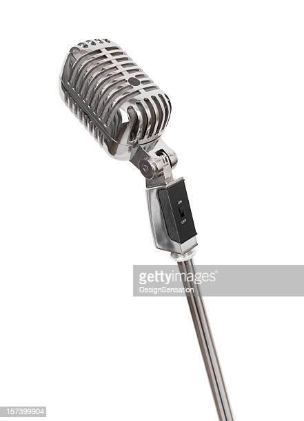 Microfone Retro (Traçado de Recorte, XXL