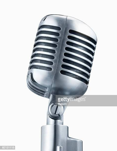 retro microphone - micro photos et images de collection