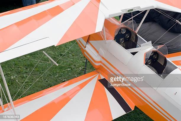 Retro modelo Avião Biplano