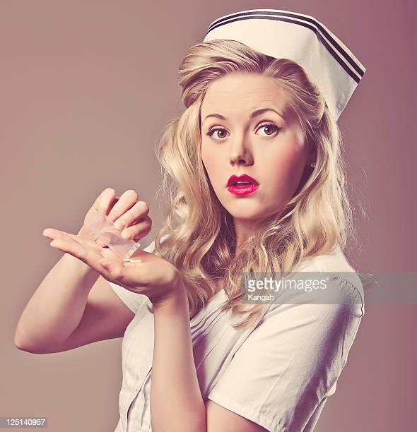 retro nurse - 1940s erotica stock photos and pictures