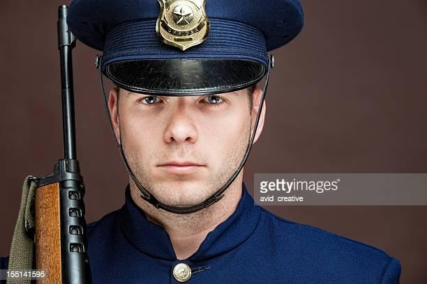 Porträt Retro Officer