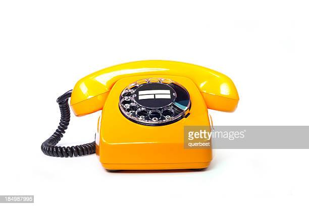Retro orange telephone