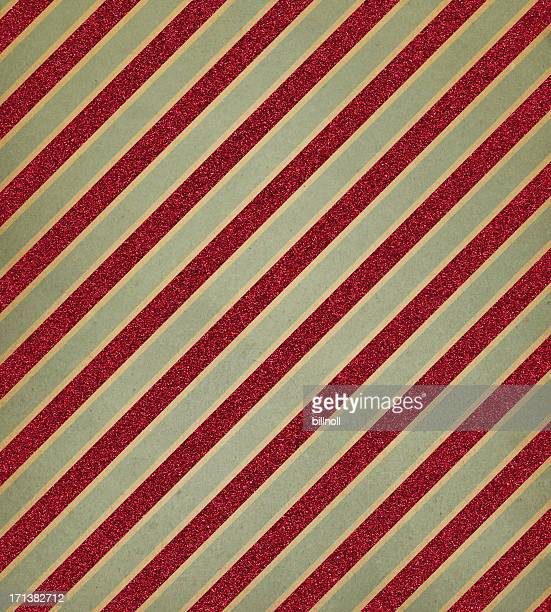 retro paper with red glitter stripe