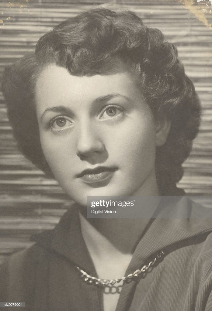 Retro Photograph of a Young Woman : Stock Photo