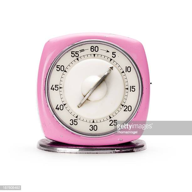 Retro pink kitchen timer