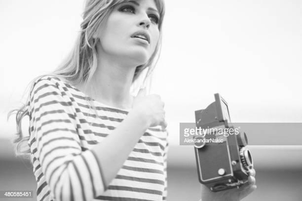 retro portrait - weiblichkeit stock-fotos und bilder