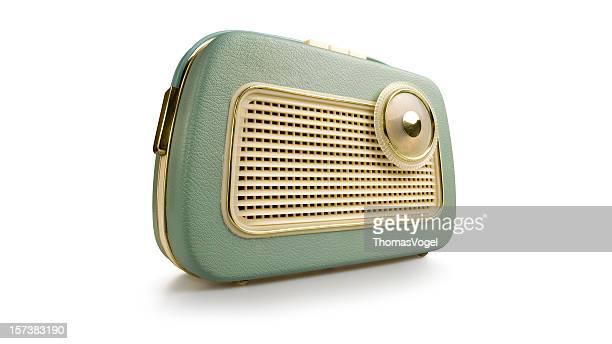 Retro radio. Revival Old fashioned 1970s 1950s Style