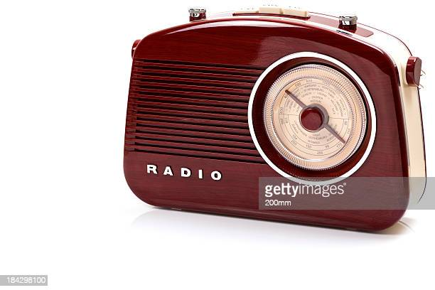 retro radio set, studio isolated - global radio studios stock photos and pictures