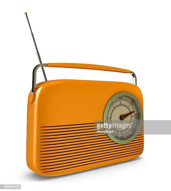 Retro Radio with Clipping Path