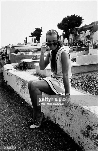 Retro Romy Schneider In France In August 1998 On the shooting of 'La Piscine' 08/1978