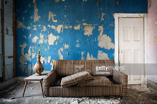 retro room. - abandoned stock pictures, royalty-free photos & images