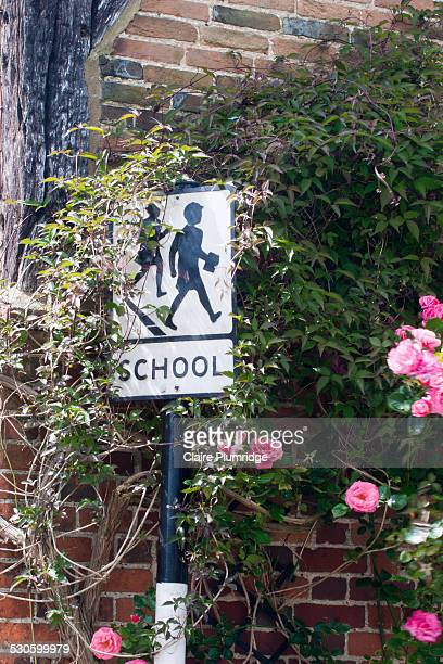 retro school sign - claire plumridge stock pictures, royalty-free photos & images