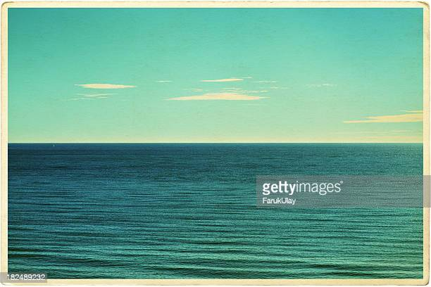 Retro Seascape Postcard
