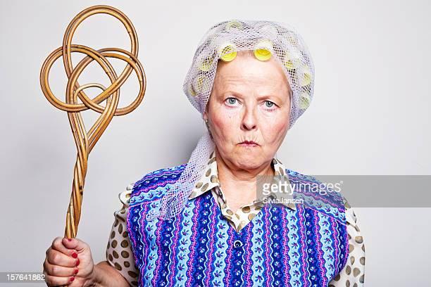 retro senior housewife