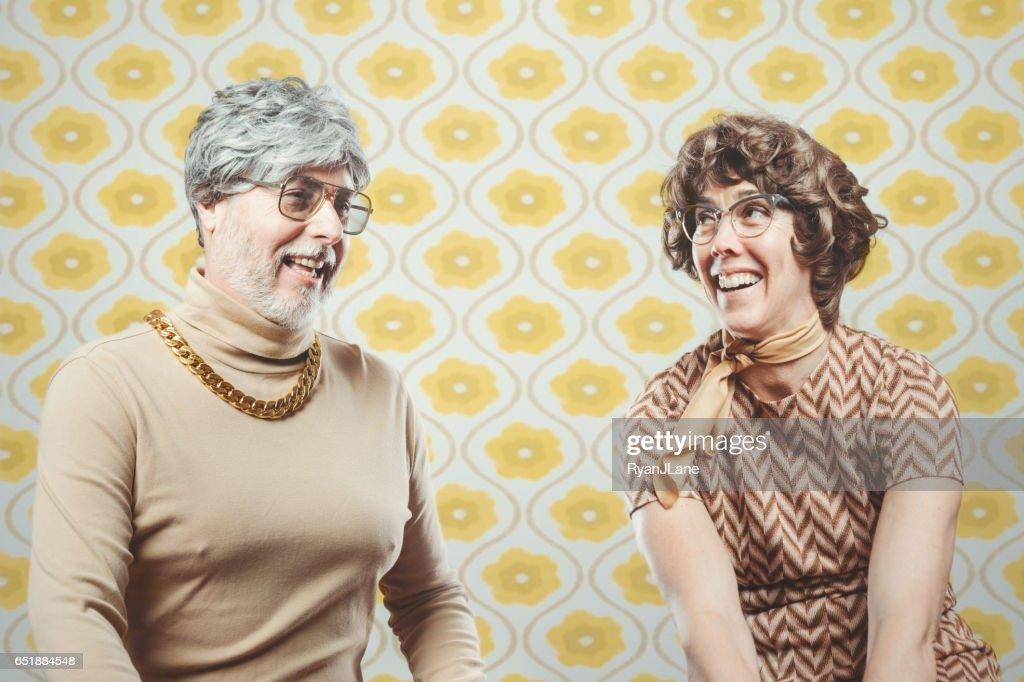 Retro Seventies Style Couple : Stock Photo