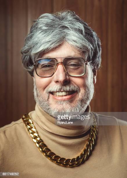 Retro Seventies Style Salesman