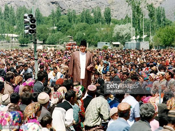 Retro Son Altesse Karim Aga Khan in Tajikistan in January 1995 Prince Karim Aga Khan