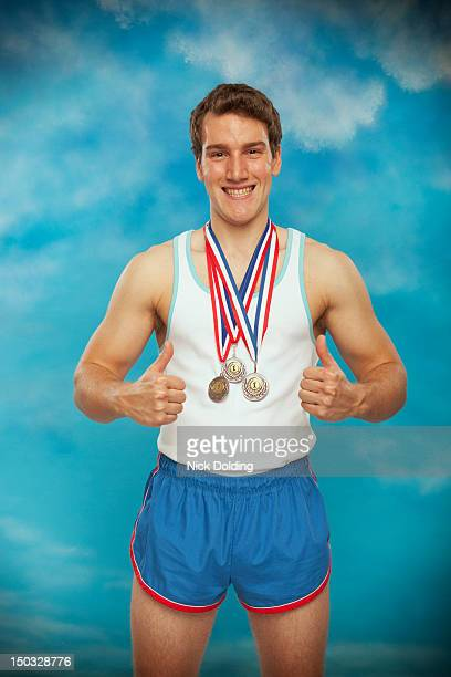 retro sport 01 - medalist stock pictures, royalty-free photos & images