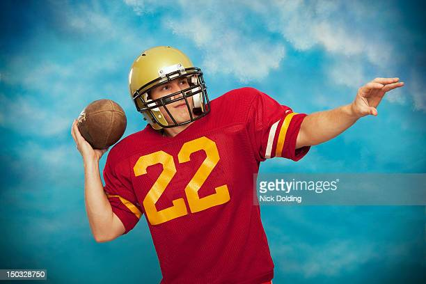 retro sport 18 - american football uniform stock pictures, royalty-free photos & images