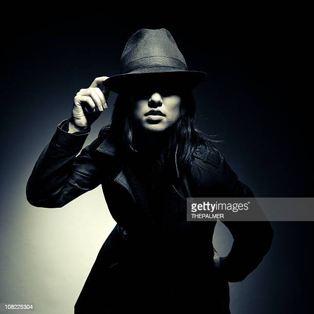 retro spy - detective stock pictures, royalty-free photos & images