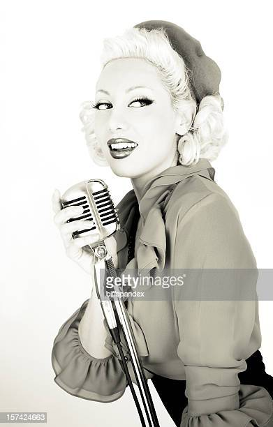 Retro Starlet With Microphone
