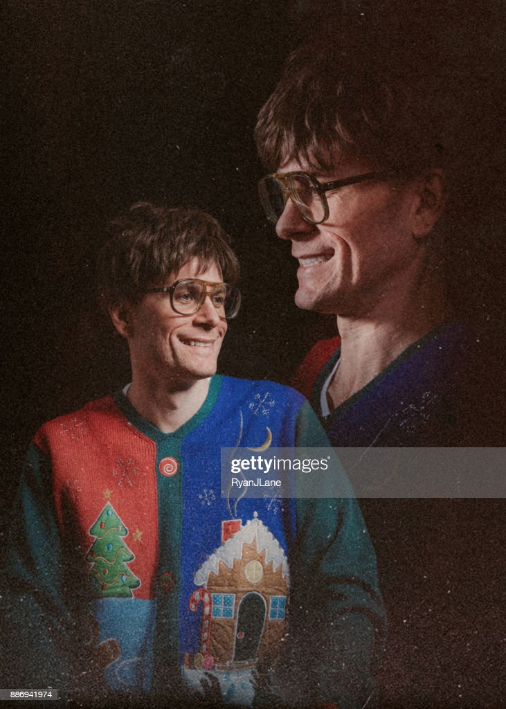 Retro Styled Glamour Shot with Christmas Sweater : Stock Photo