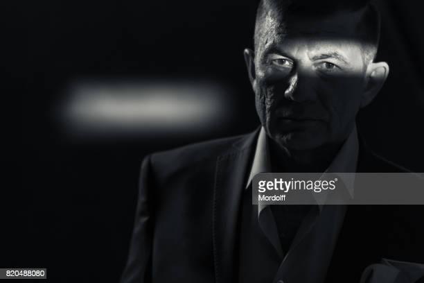 Retro stijl portret van volwassen Man