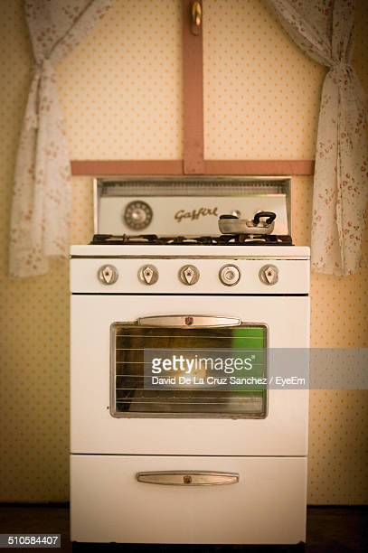 Retro styled stove at home