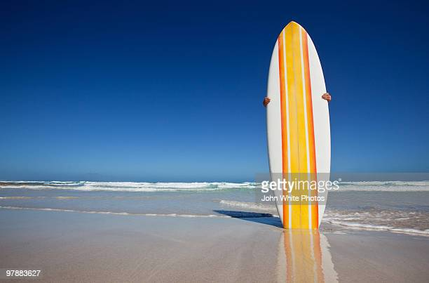 retro surfboard eyre peninsula - surfboard stock pictures, royalty-free photos & images