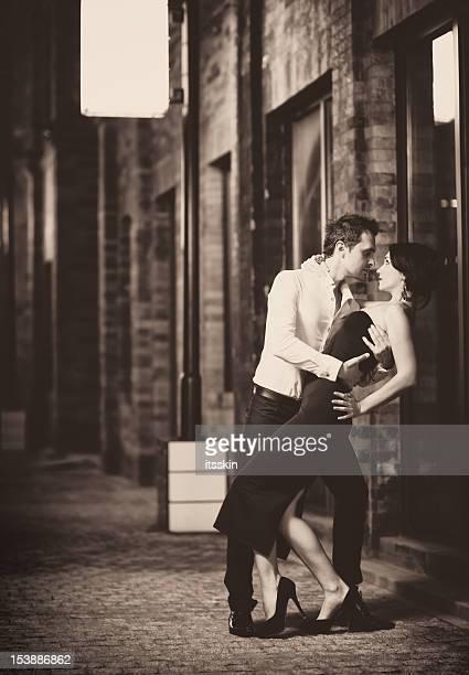 Retro de baile de tango