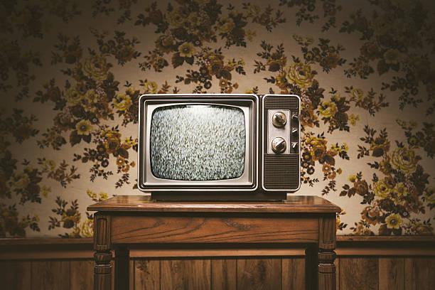 Retro Television And Wallpaper