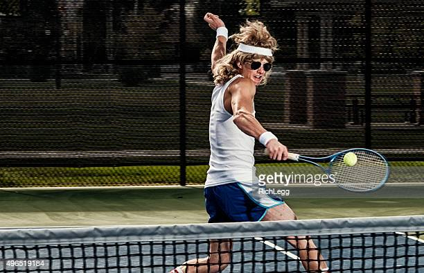 retro tennis player - sports round stock pictures, royalty-free photos & images