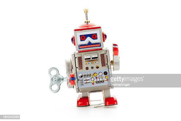 Retro tin toy walker robot