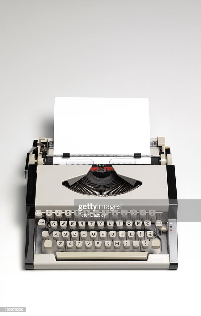 Retro type writer with copy space : Stock Photo