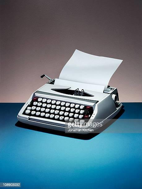 A retro typewriter