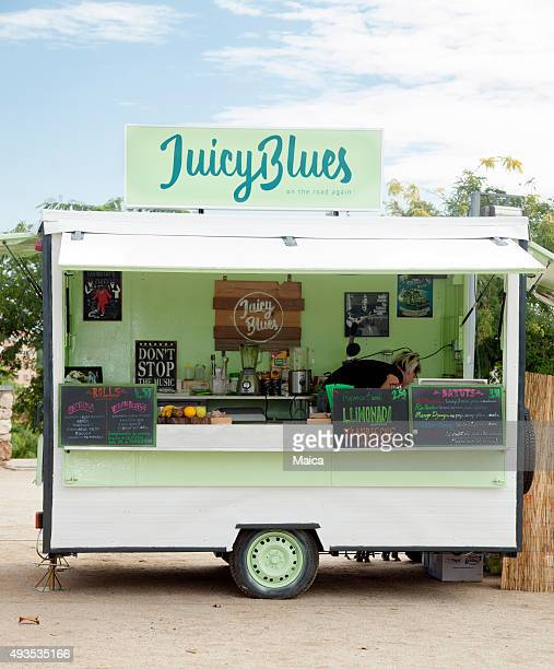Retro vegan truck food
