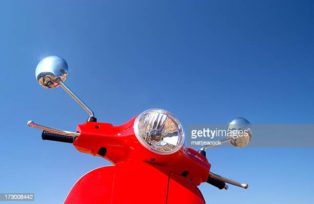 retro vespa - moped stock photos and pictures