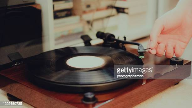 retro vinyl record player - record analog audio stock pictures, royalty-free photos & images