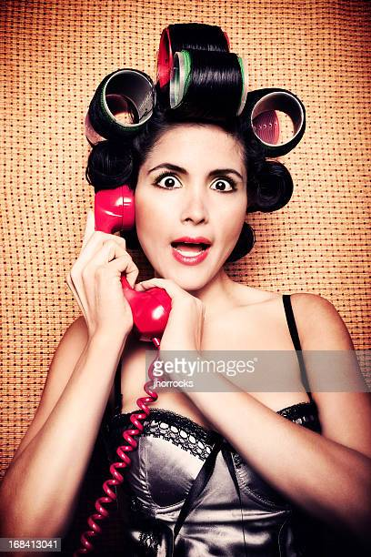 Retro Woman on Telephone Interrupted