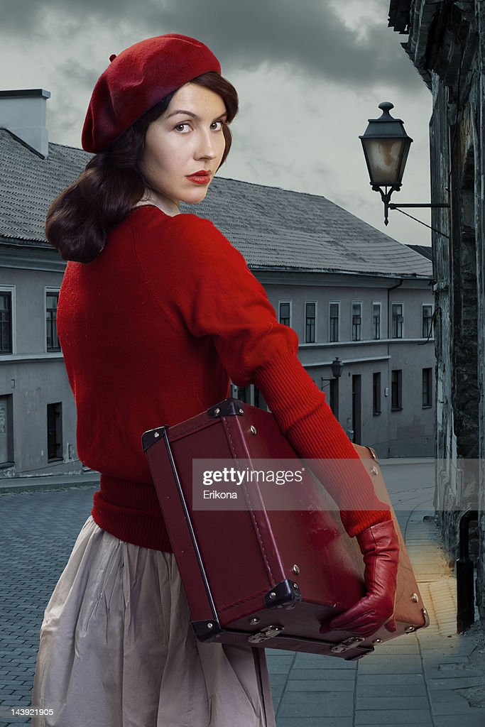 Retro woman : Stock Photo