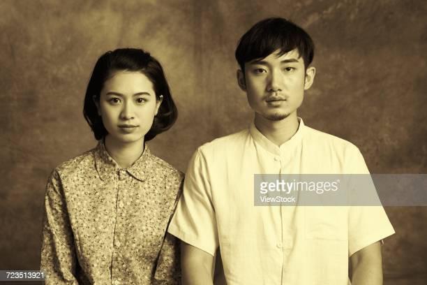 retro young couple photos - vintage stock ストックフォトと画像